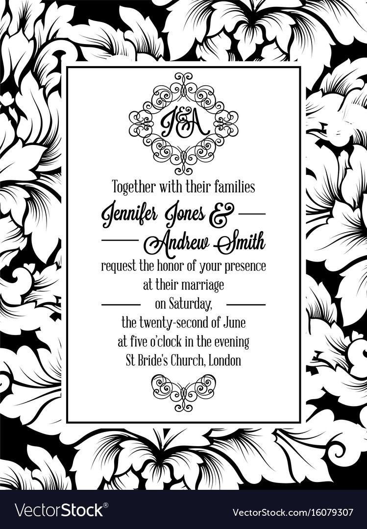 Vintage delicate formal invitation card royalty free vector vintage delicate formal invitation card vector image stopboris Image collections