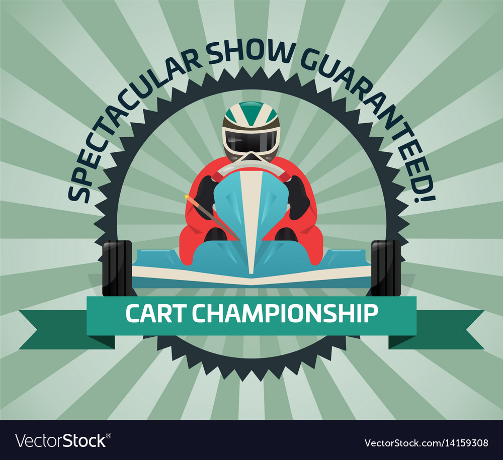 Cart championship banner in flat design vector image