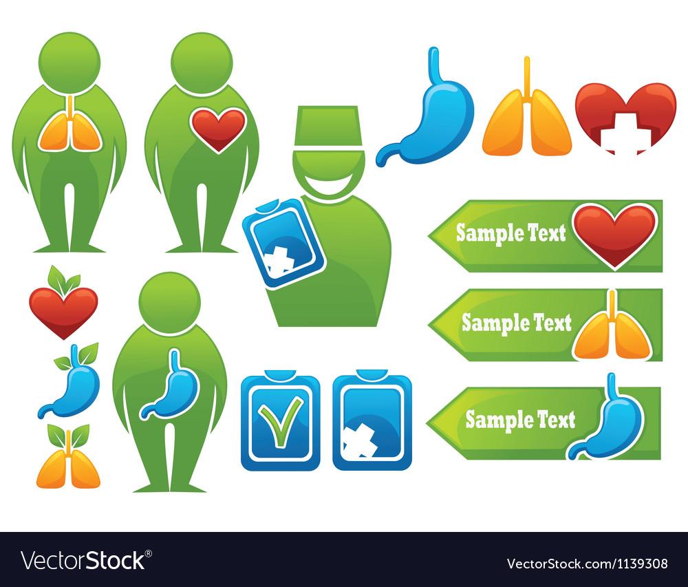 Health organs people medicine vector image