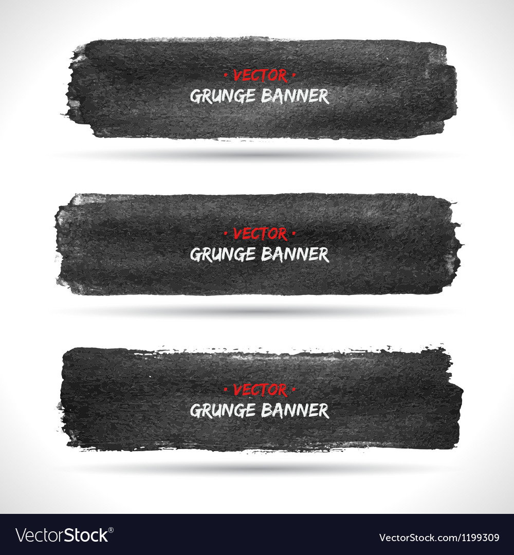 Grunge banners set vector image