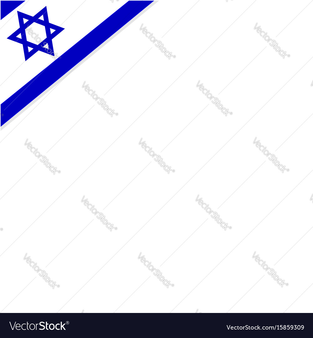 Square background frame with the flag of israel vector image