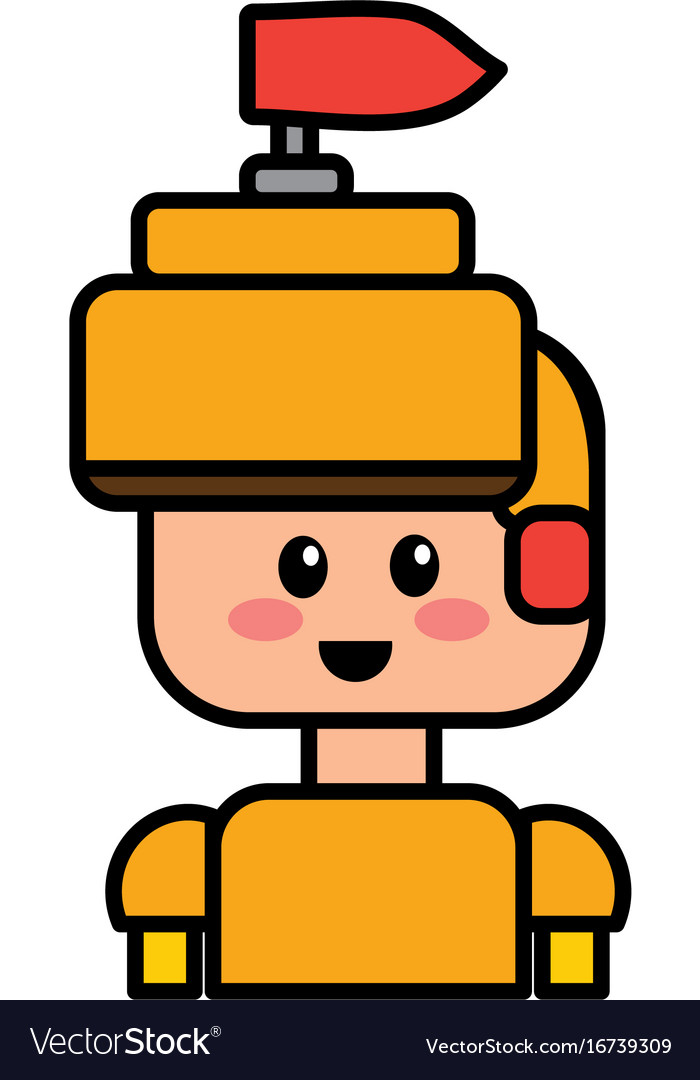 Warrior character to video game technology play vector image