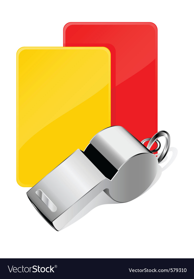 Cards and whistle vector image