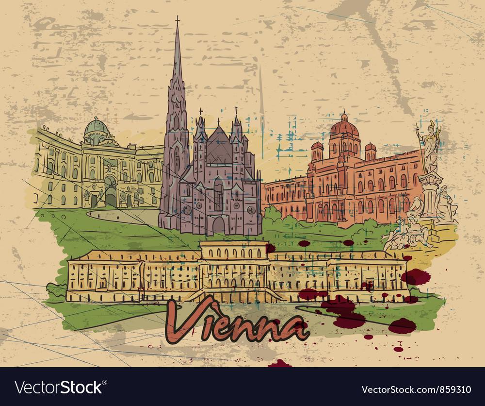 Vienna doodles vector image