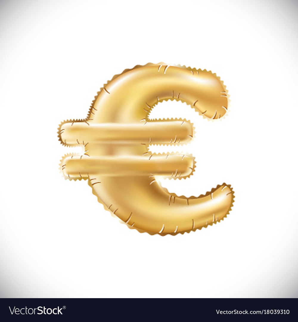 Balloon euro currency symbol realistic 3d vector image biocorpaavc Gallery