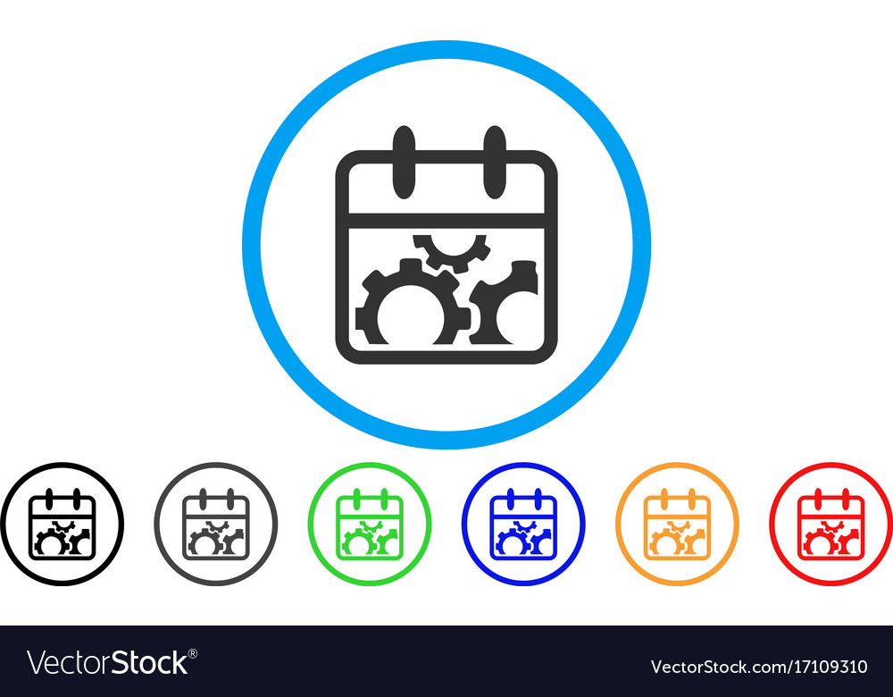 Technical day rounded icon vector image