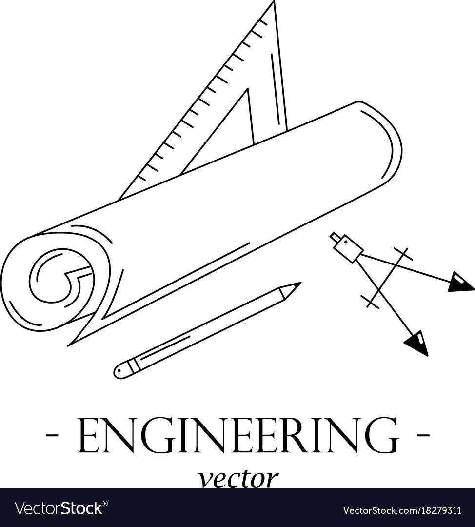 Engineering logo vector image