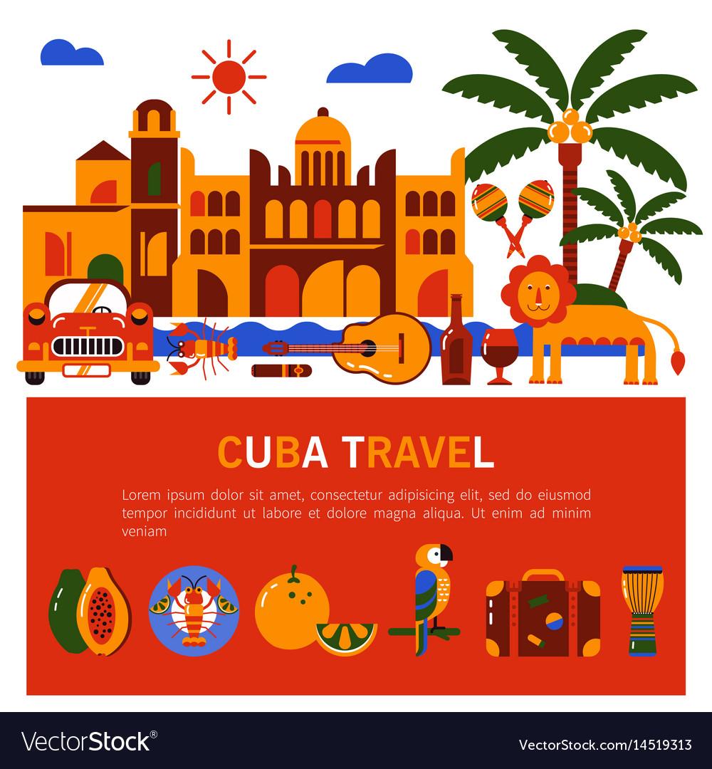 Cuba havana vector image
