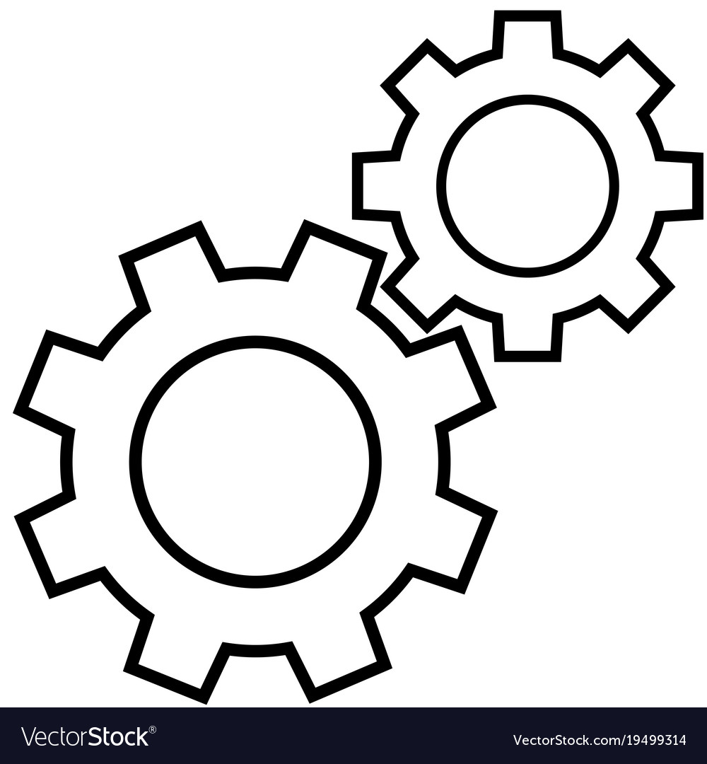 Gear icon vector image