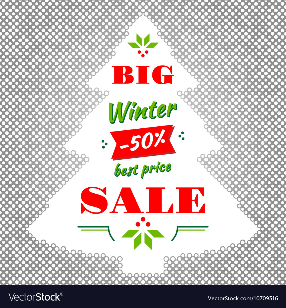Winter and Christmas Big Sale abstract vector image