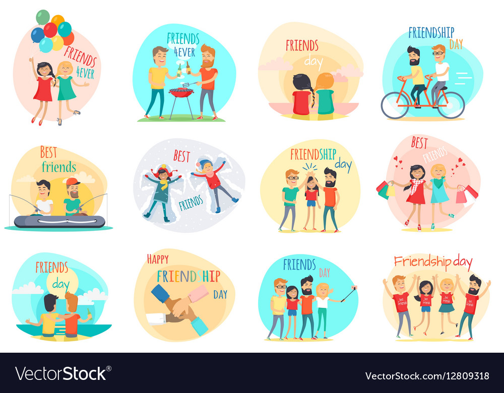 Friendship Best Friends Forever Relations vector image