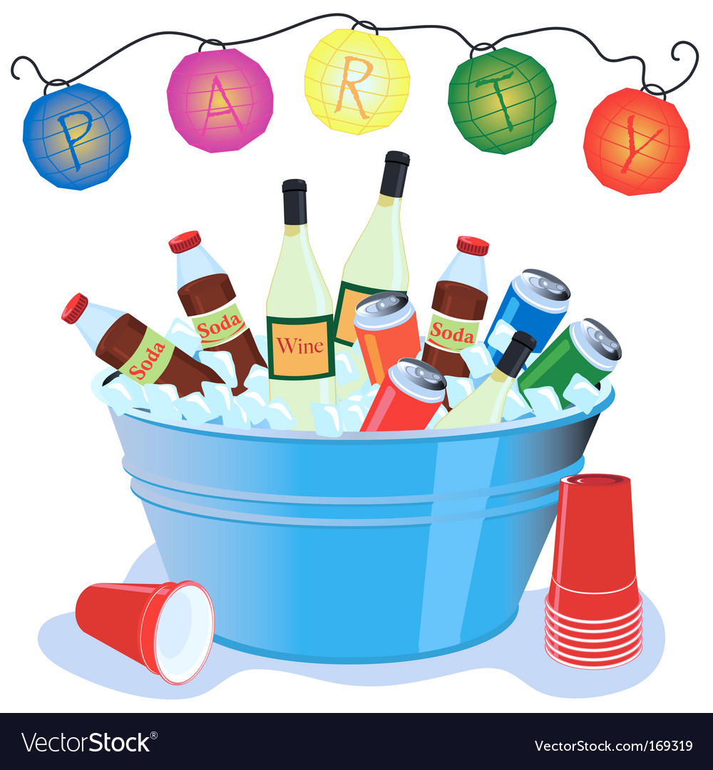 Party drinks Vector Image