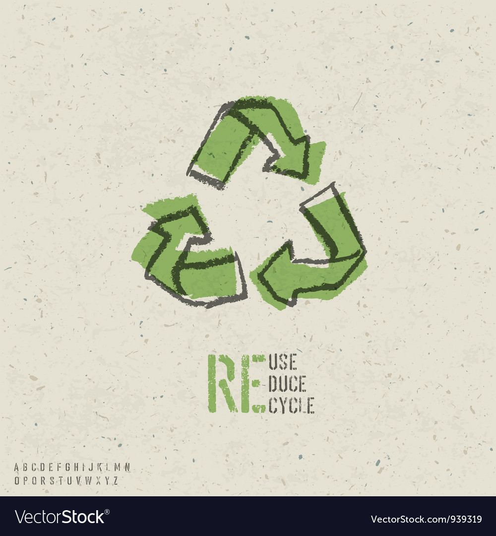Reuse reduce recycle poster vector image