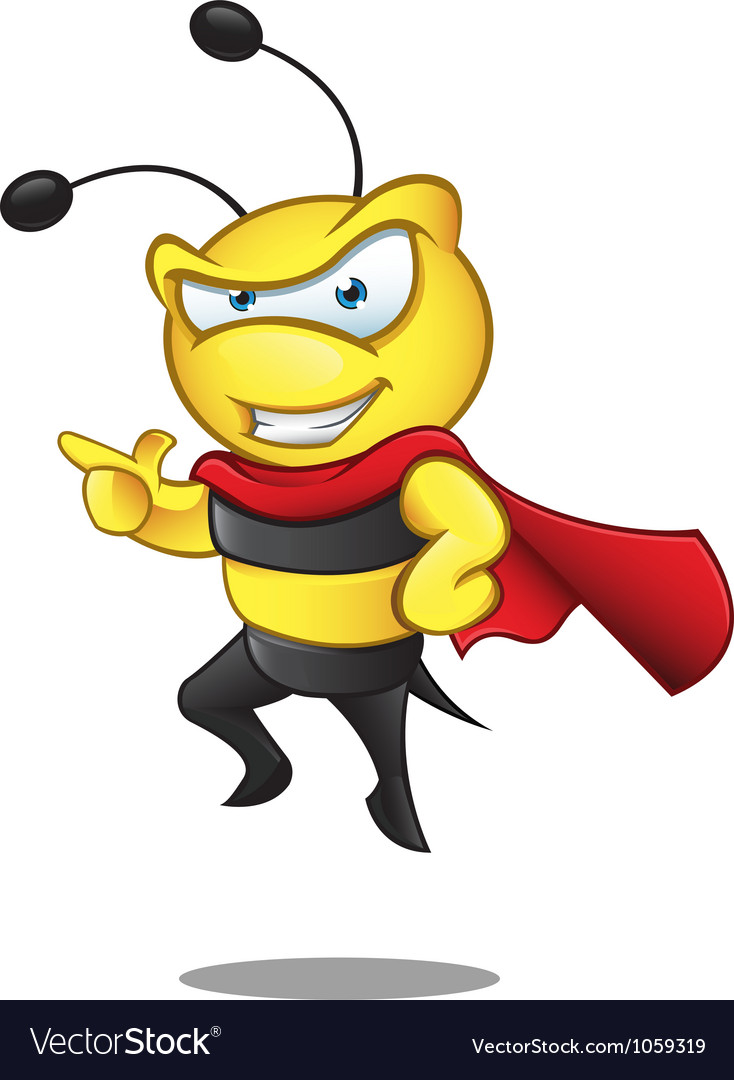 Super Bee Pointing vector image