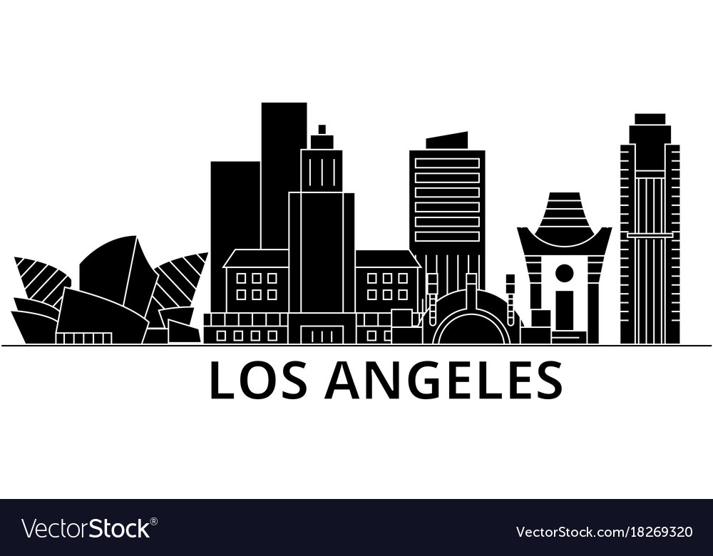 los angeles architecture city skyline vector image