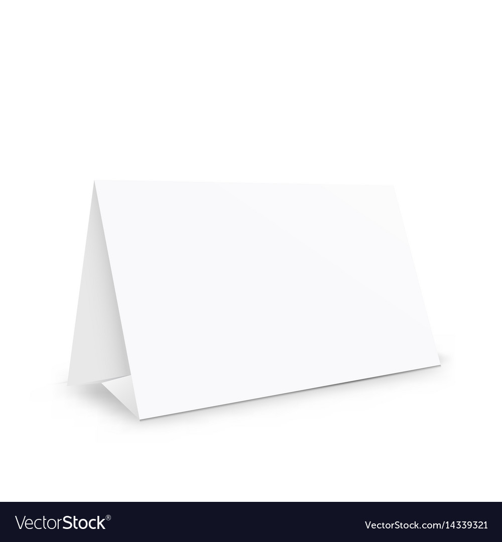 Blank white paper stand holder vector image