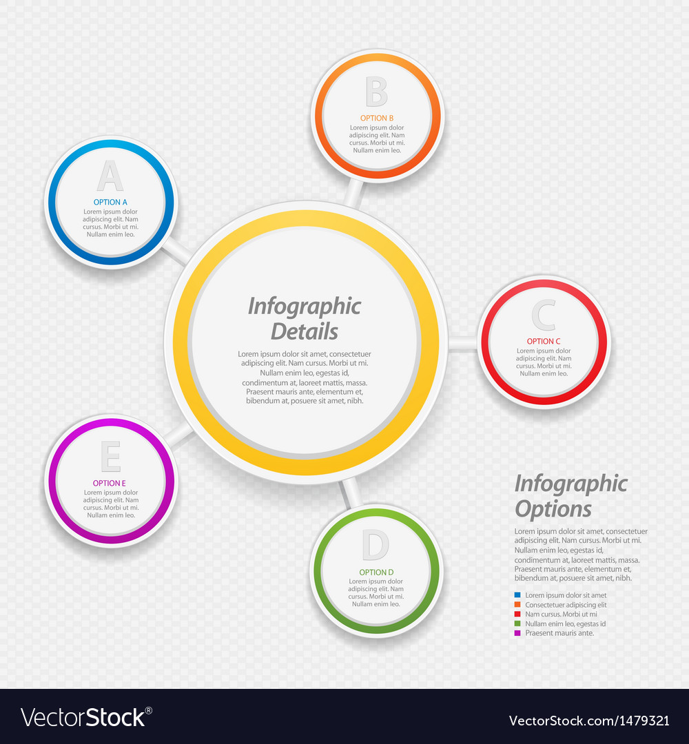Colourful infographic circle background vector image