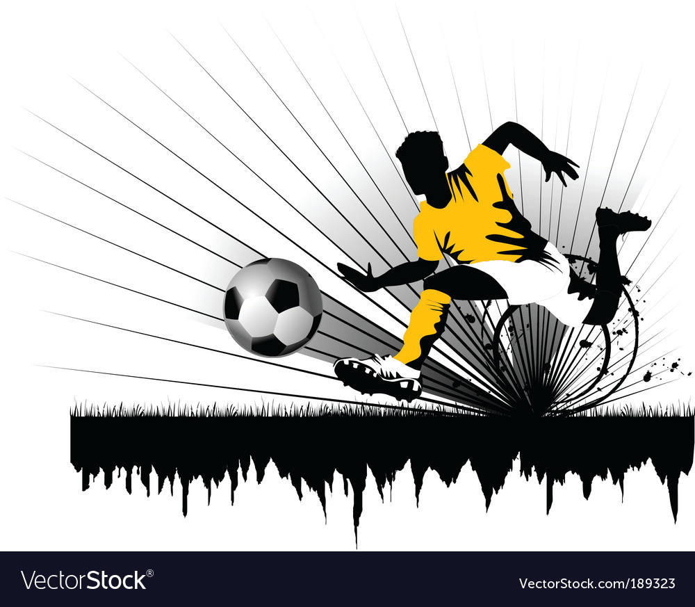 Football defender vector image