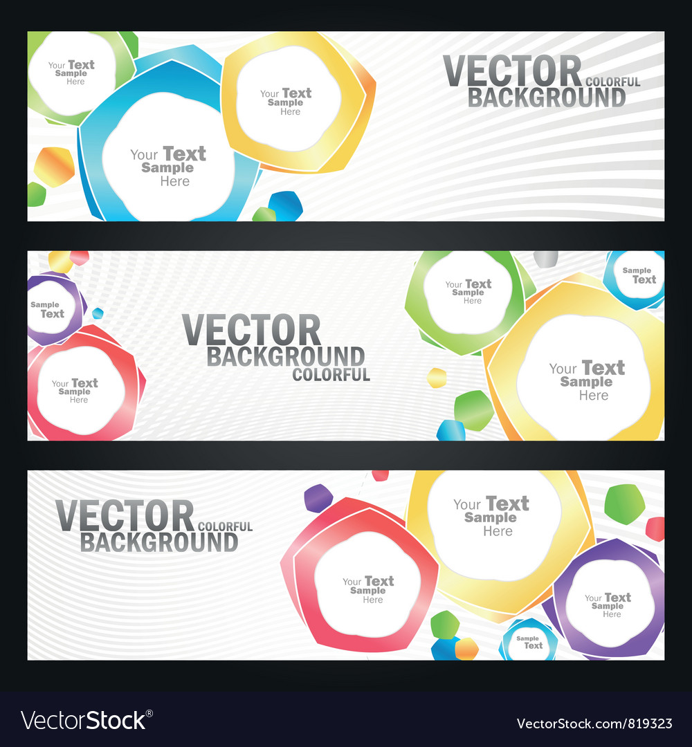 Abstract colorful banners set vector image