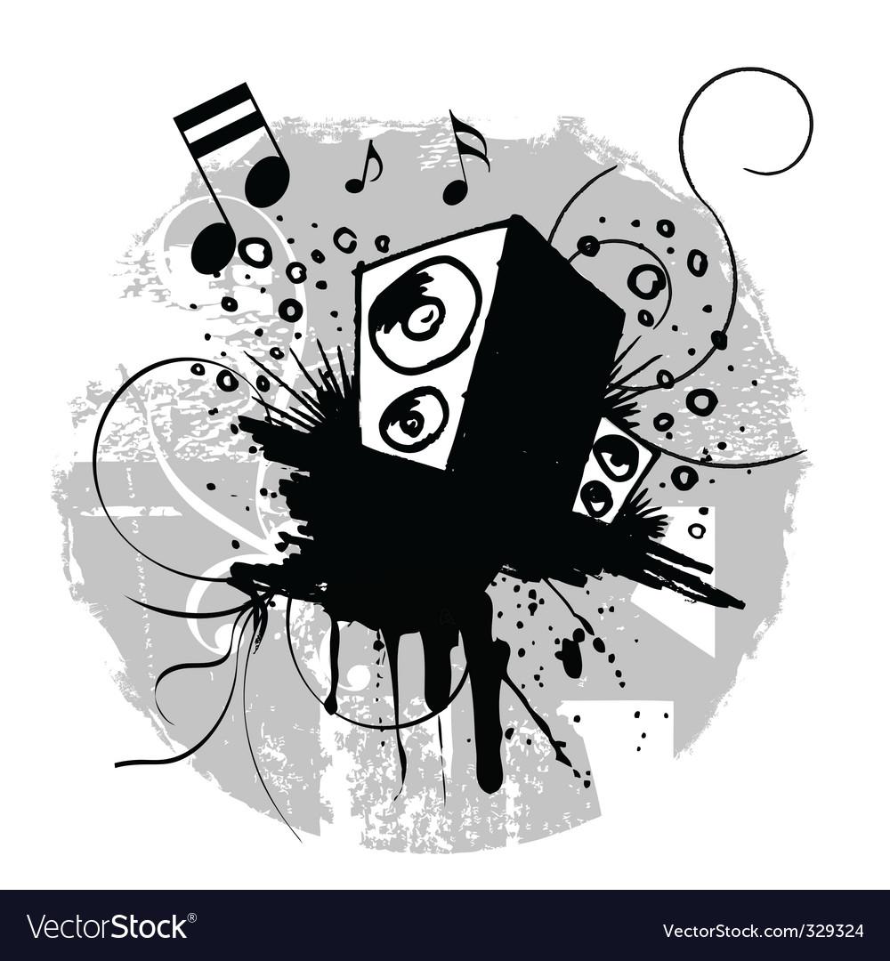 Grunge music vector image