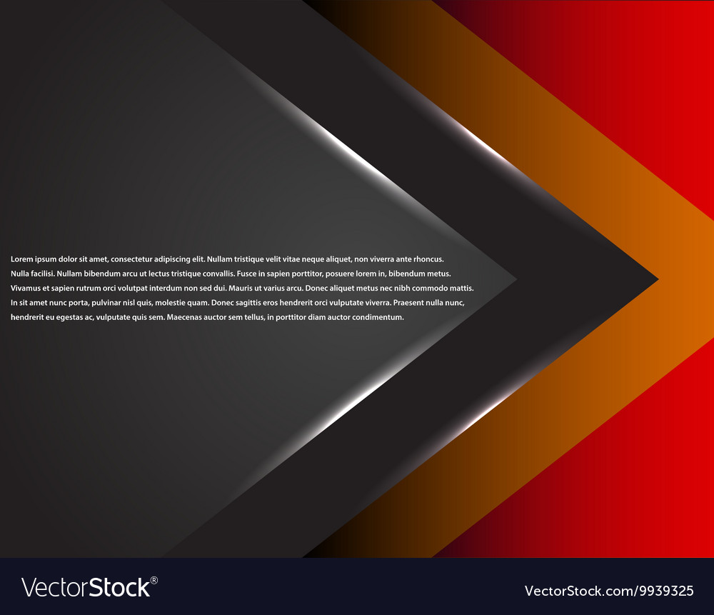Black and red corporate tech striped graphic vector image