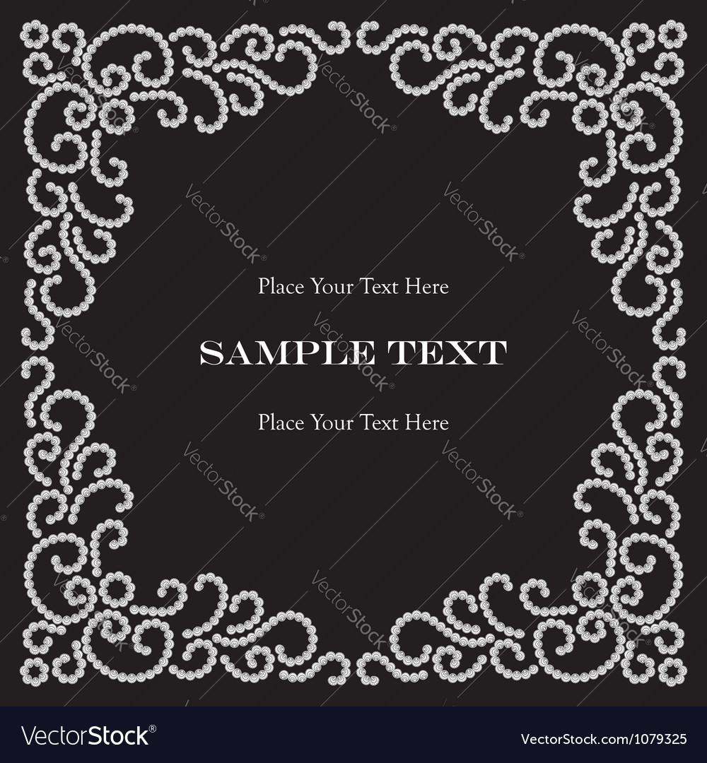 Jewelry frame vector image
