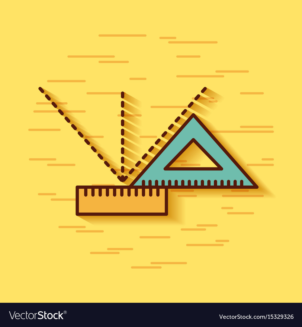 Geometric instruments school vector image