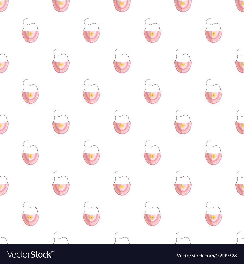 Bib pattern vector image