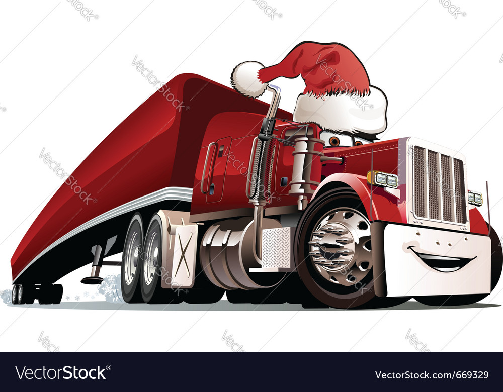 Christmas truck Vector Image