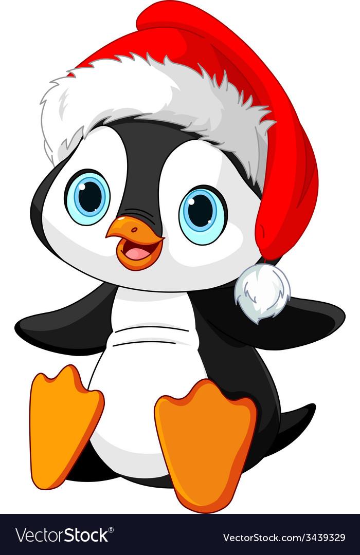 christmas penguin royalty free vector image vectorstock. Black Bedroom Furniture Sets. Home Design Ideas