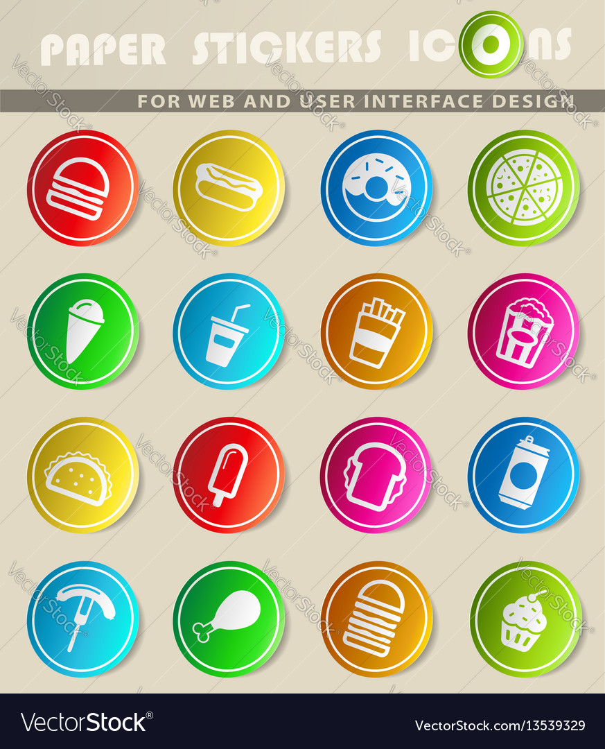Fast food simply icons vector image
