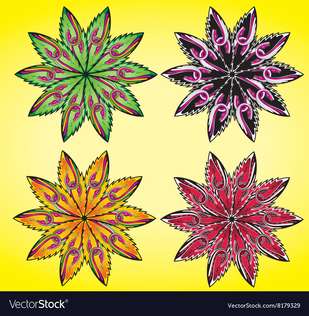 Natural seasonal geometrical flower symbol vector image