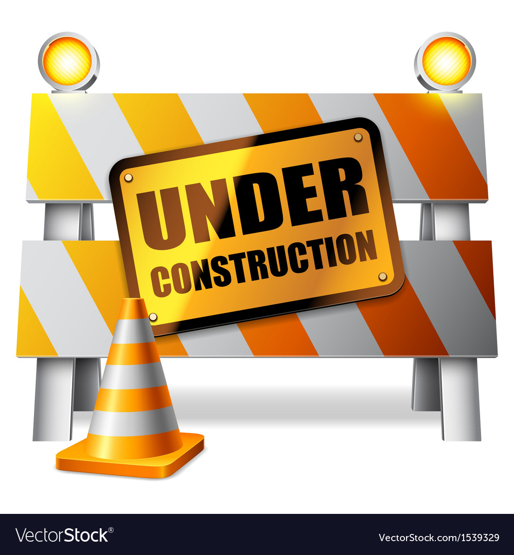 Under construction barrier vector image