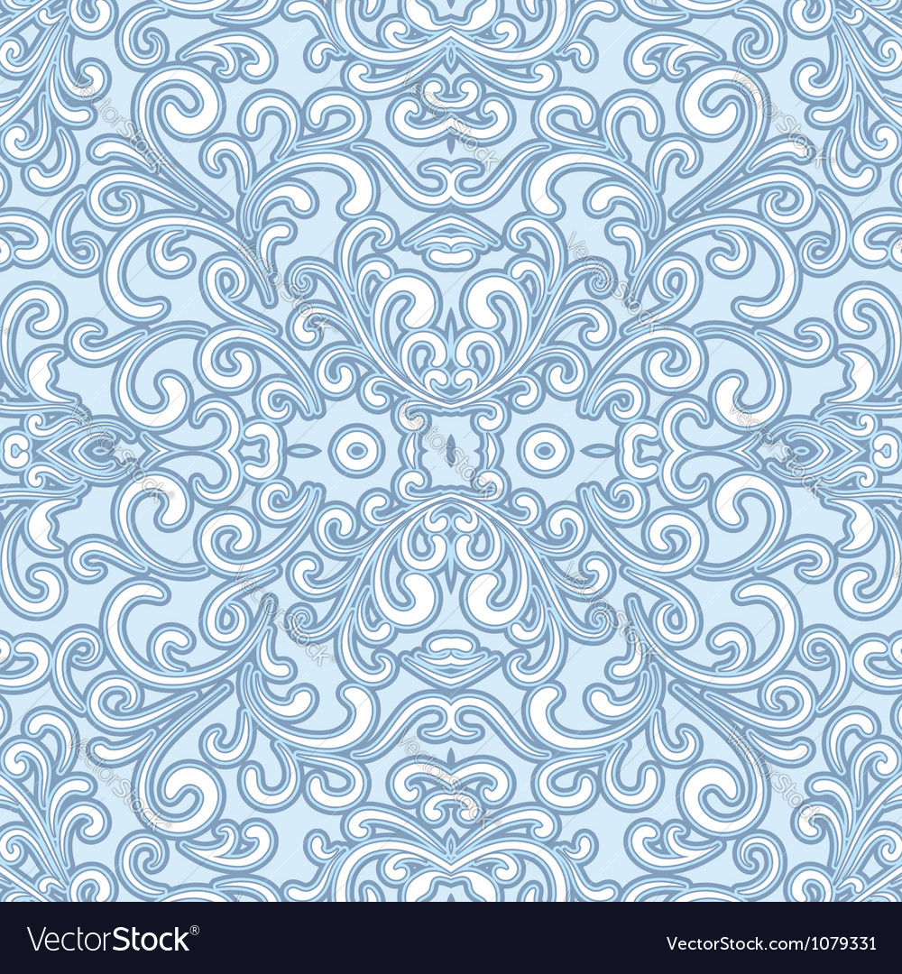 Winter swirly pattern vector image