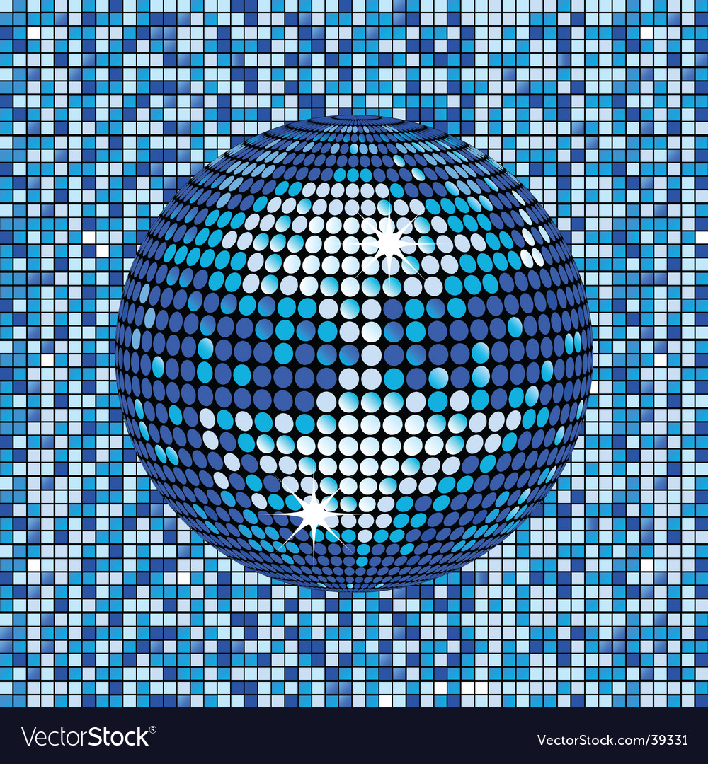 Blue abstract disco ball background Vector Image