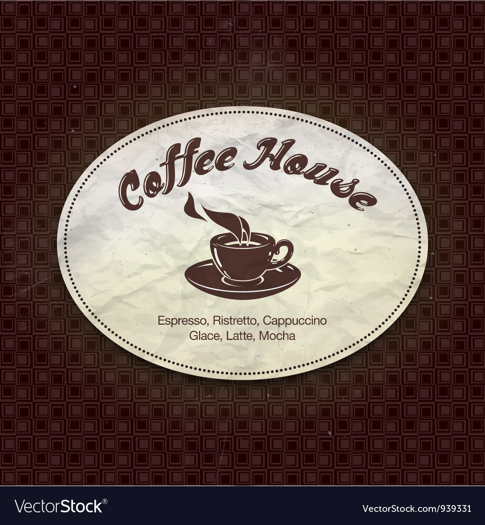 Menu for restaurant cafe bar coffee house Vector Image