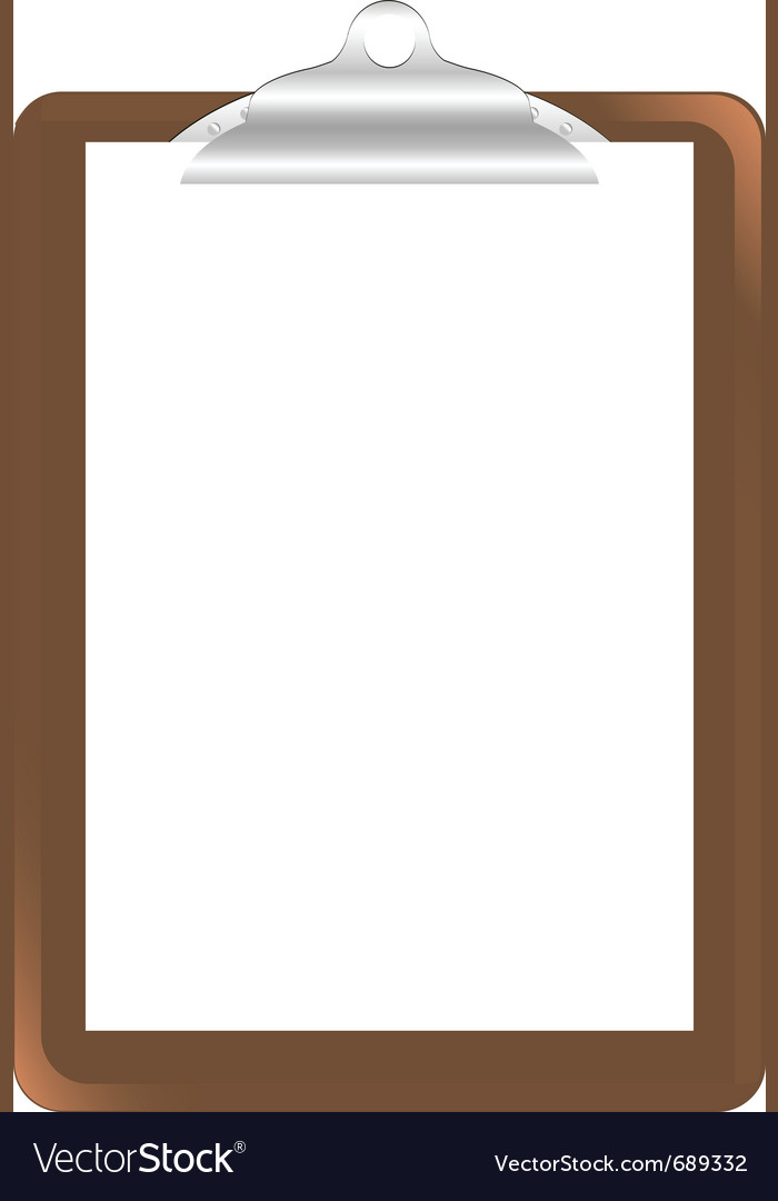 Wood clipboard base vector image