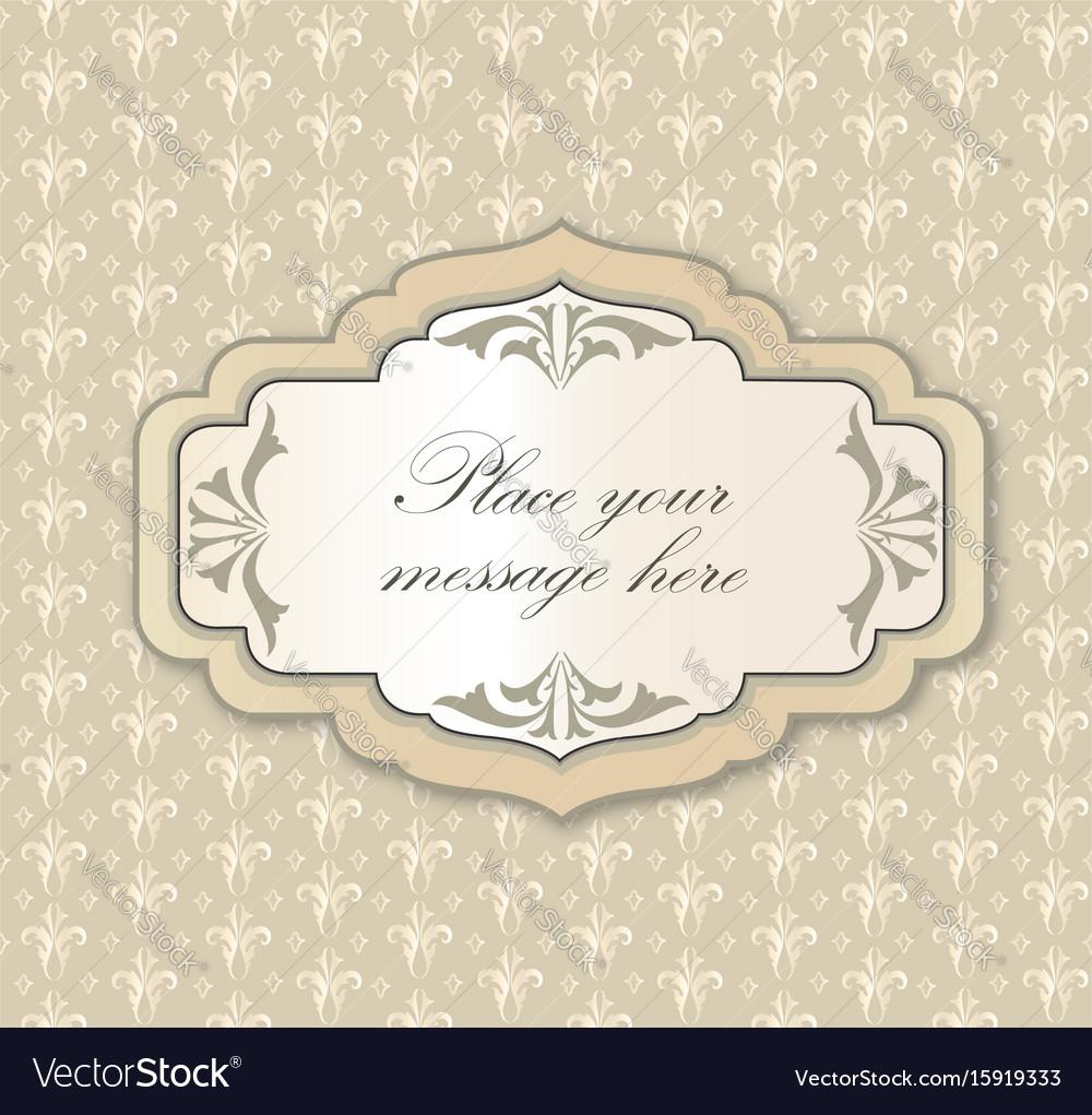 Gentle greeting card frame invitation over polka vector image