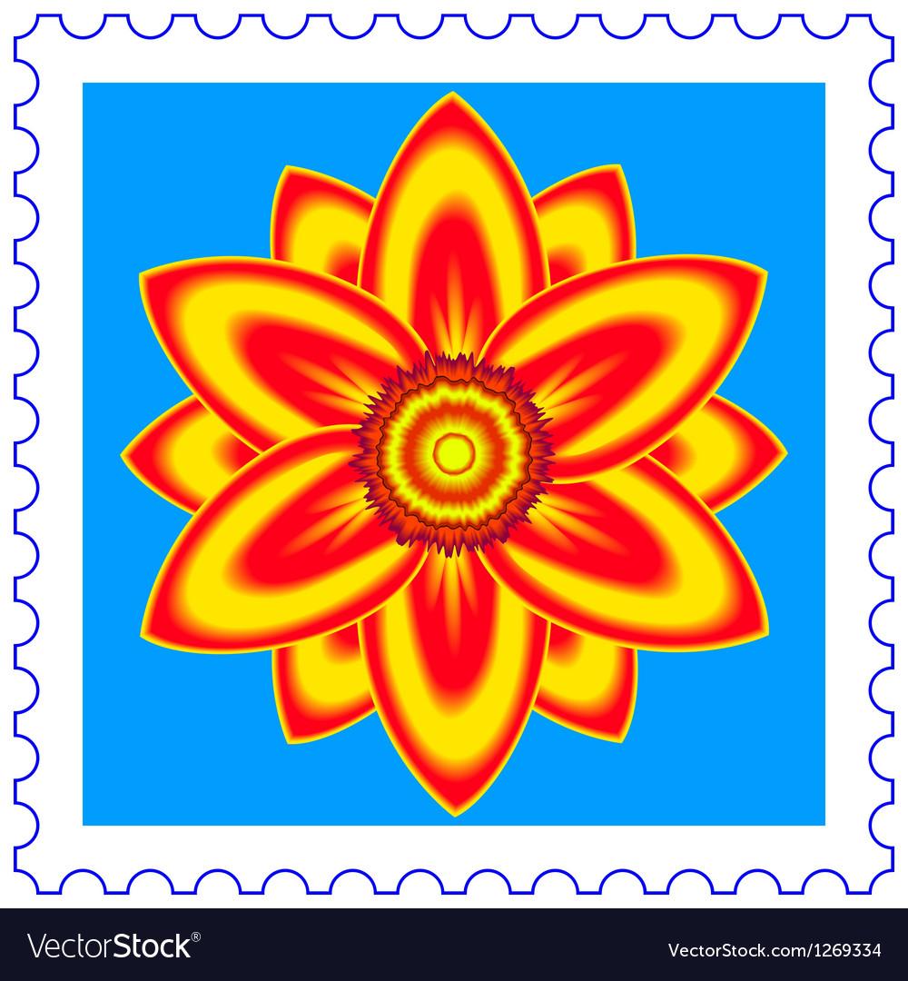 Flower stamp vector image