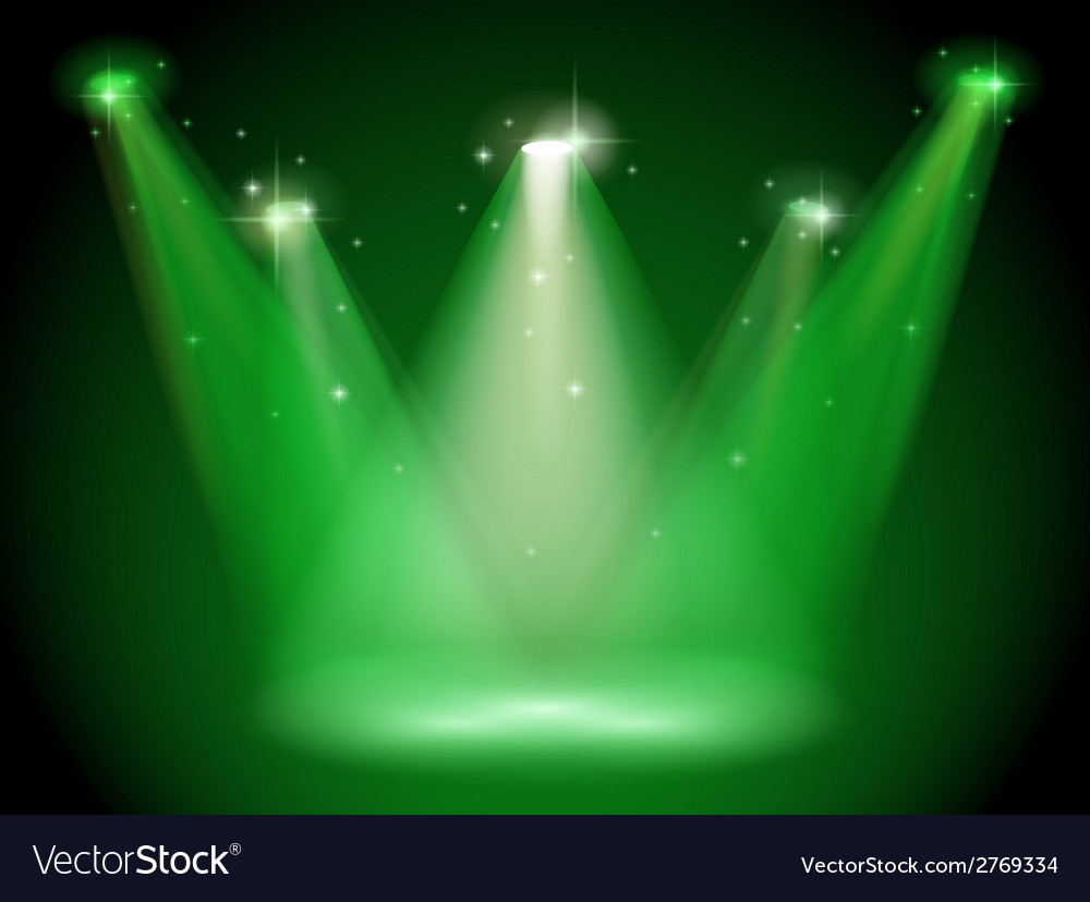 Green stage vector image