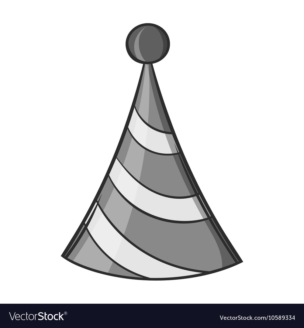 Party Hat Icon Black Monochrome Style Royalty Free Vector