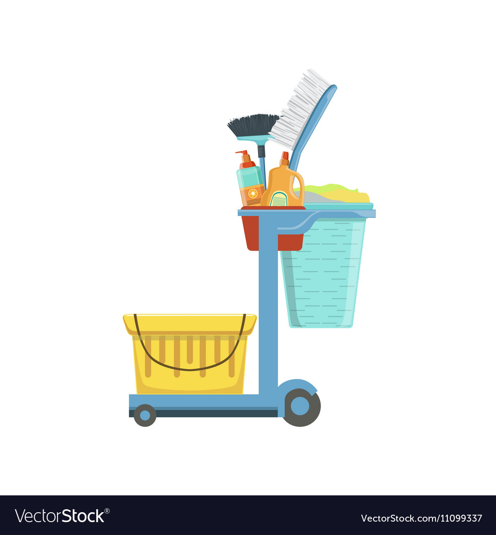 Professional Clean Up Household Equipment Set vector image