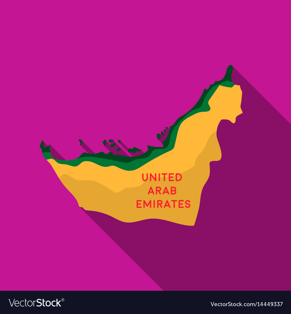 Territory of united arab emirates icon in flat vector image