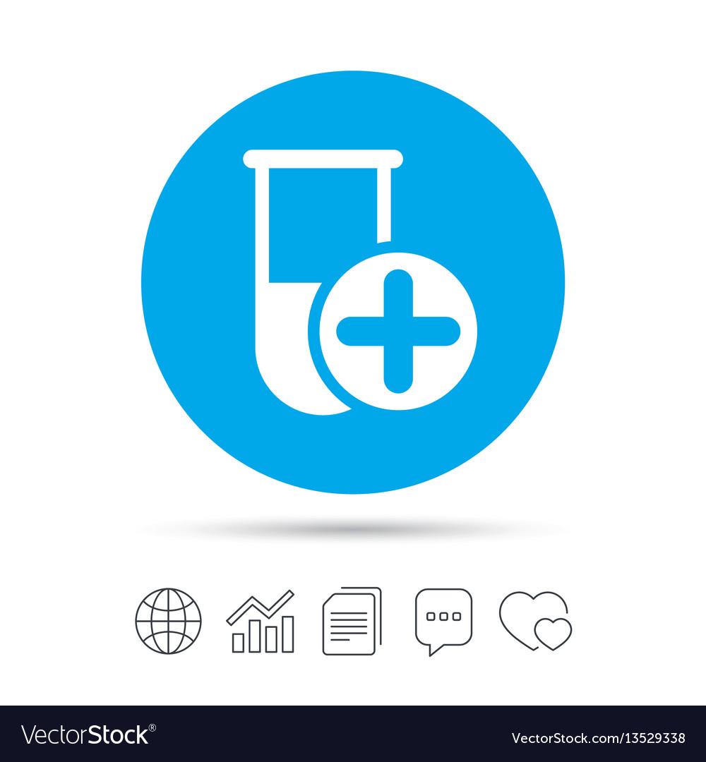 Medical test tube sign icon lab equipment vector image medical test tube sign icon lab equipment vector image buycottarizona
