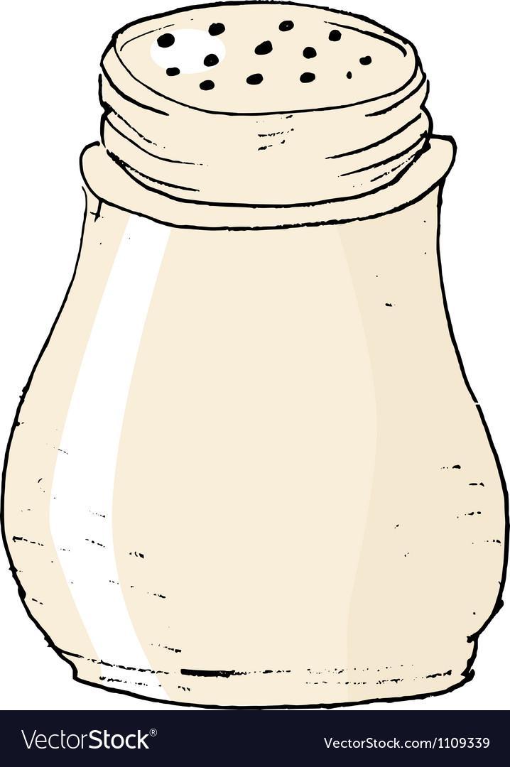 Salt caster vector image
