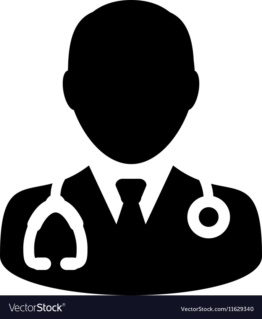 Doctor Physician Stethoscope Medical Icon vector image