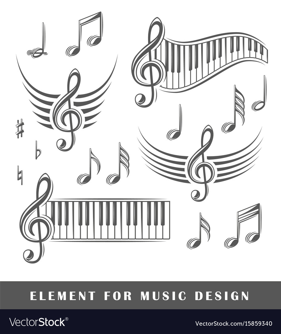 Treble clef and notes vector image
