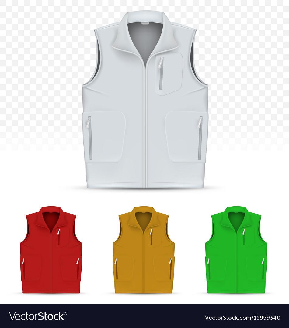 Unisex vest isolated on white background vector image