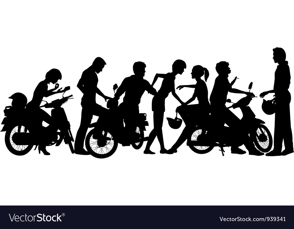 Biker youth vector image