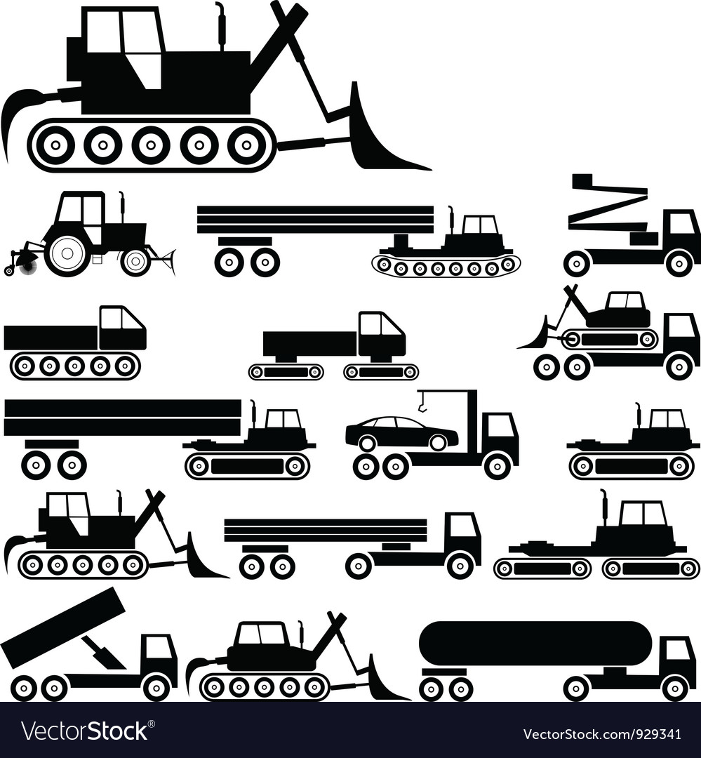 Industrial silhouettes vector image